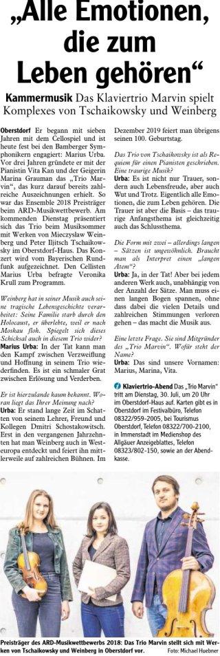 2019-07-27 PR-Bericht IS Oberstdorfer Musiksommer
