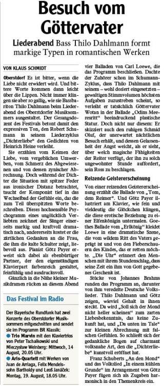 2019-08-13PR Bericht IS Oberstdorfer Musiksommer - Besuch vom Göttervater