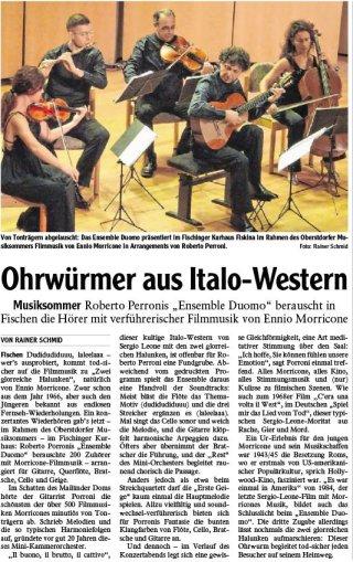 2019-08-13PR Bericht IS Oberstdorfer Musiksommer - Ohrwürmer aus Italo-Western