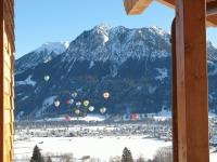 Ballonfestival Aussicht vom Balkon