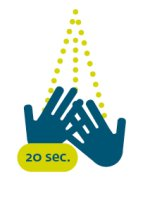 Hände waschen - Corona Icon ohne Text