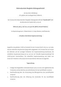 Einladung Hauptversammlung KBB Juni 2020