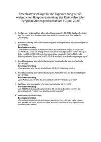 Beschlussvorschläge für die Tagesordnung zur 65. HV der KBB (002)