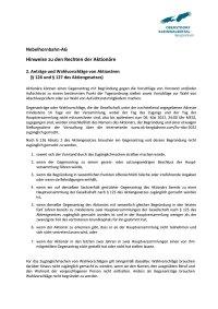 Aktionärsrechte Anträge und Wahlvorschläge nach 126-127-AktG