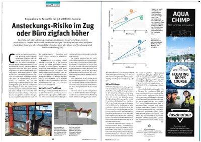 Empa-Studie zu Aerosolen bei gut belüfteten Gondeln