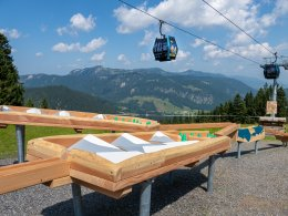Berglandschaft im Kugelrennen