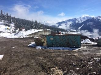 Abbruch der Bergstation Ifenbahn