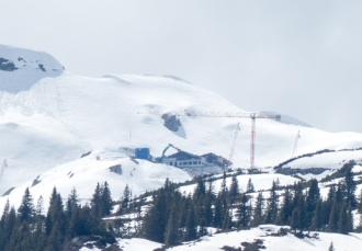 Der Abbau der Bergstation schreitet voran
