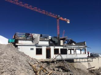 Beginn Abbruch der Bergstation Hahnenköpflebahn