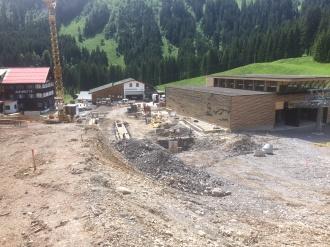 Fundamentarbeiten an der zukünftigen Talstation