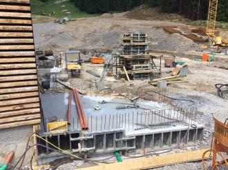 Fundamentarbeiten an der Talstation