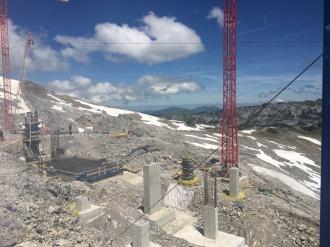 Fundamentarbeiten an der Bergstation