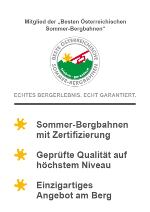 Mitglied der Besten Österreichischen Sommer-Bergbahnen