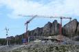 Überblick über die Baustelle an der Bergstation