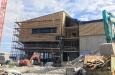 Baufortschritt an der Bergstation mit neuem Restaurant