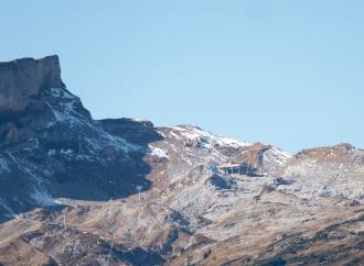 Blick auf die Bergstation aus der Kanzelwandbahn