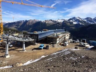 Baufortschritt an der Mittelstation