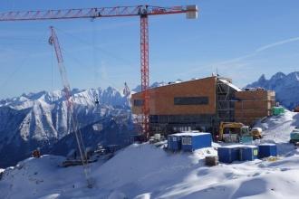 Aktueller Baufortschritt an der Bergstation