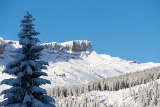 Blick auf die Bergstation vom Parsenn