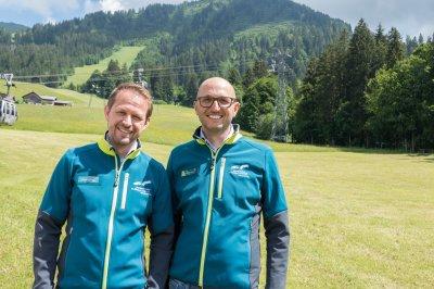 Vorstand OBERSDTDORF · KLEINWALSERTAL BERGBAHNAN, v.l.: Dipl. Ing. Johannes Krieg und Dr. Andreas Gapp