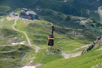 Auf dem Weg zum Nebelhorngipfel