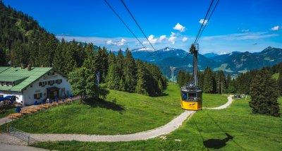 Die Nebelhornbahn an der Seealpe