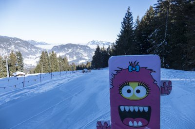 Monster im Parcours