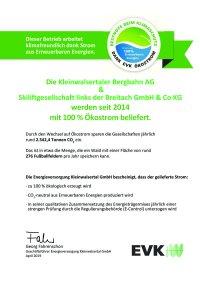 KBB und GLB - Zertifikat Ökostrom