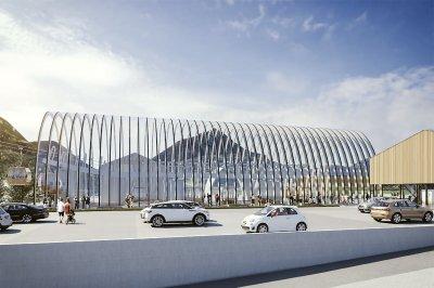Neubau Nebelhorn Talstation mit Parkplatz
