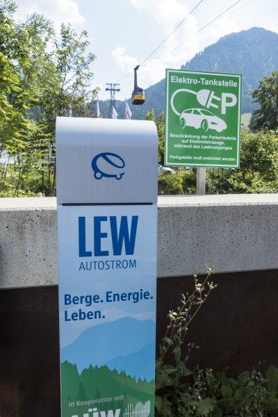 E-Tankstelle am Nebelhorn
