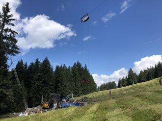 Materialseilbahn neue Schrattenwangbahn