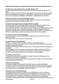 FAQ Superschnee und AGC 2019