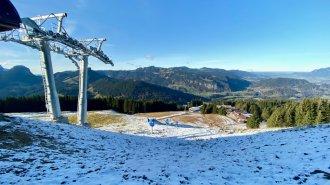 Neue Bergstation Schrattenwangbahn - Der Winter naht