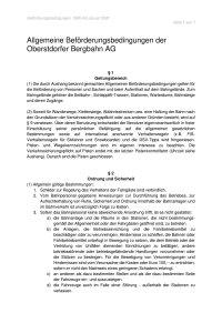 Beförderungsbedingungen Oberstdorfer Bergbahn AG