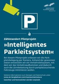Schild Intelligentes Parkleitsystem