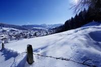 Winterpanorama mit Ort