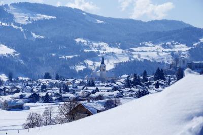 Ortsansicht im Winter