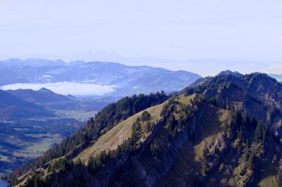 Panorama vom Hochgrat Richtung Bregenzerwald
