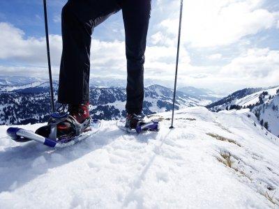 Wintergenuss beim Schneeschuhwandern