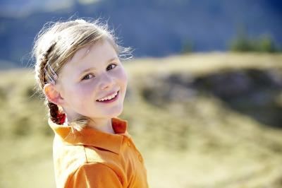 Kind beim Wandern