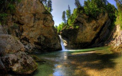 Die Buchenegger Wasserfälle laden zum Verweilen ein