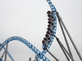BlueFire - kurz nach dem Looping