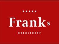 Franks Logo mit Zusatz rot negativ weiss
