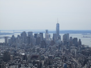 Vom Empire State Building auf die New Yorker Skyline