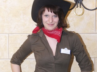 Cowgirl Ina vom Serviceteam