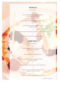 Choice of 5-courses dinner menu