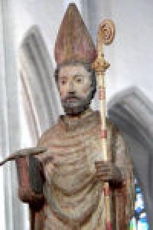Hl. Ulrich, Statue im Dom zu Augsburg