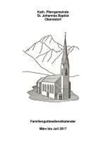Familiengottesdienstkalender Mäer bis Juli 2017