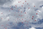 Luftballons mit guten Wünschen