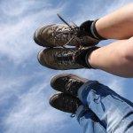 Die Beine himmelwärts